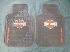 Harley Davidson Rubber & ClothFloor Mats ( Two Piece Set)