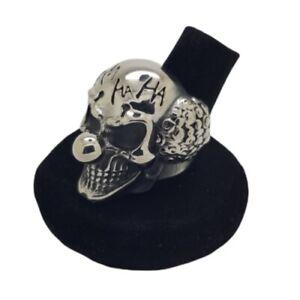 Clown Ring 316L Stainless Steel HaHa Funny Punk Gothic Biker Joker Scary Skull