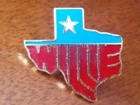 Willie Nelson State of Texas lapel pin pre-owned