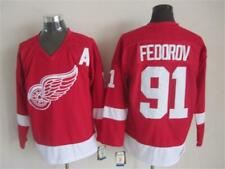 Replica Vintage Sergei Fedorov #91 Detroit Red Wings Jersey