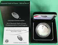 2014 National Baseball Hall of Fame Proof 90% Silver Dollar Coin Box and COA