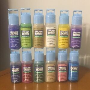 Choose Your Color - 1996 PLAID Gallery Glass Window Color - 2 OZ - New Sealed