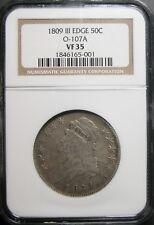 1809 III Edge Capped Bust Half Dollar O107a NGC VF-35