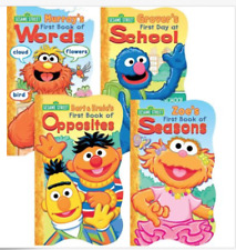 Sesame Street Board Books NEW Lot of 4 The First Words School Opposite Seasons