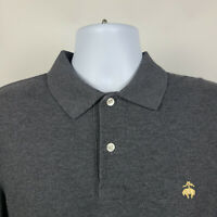 Brooks Brothers Performance Slim Fit Dark Gray Mens Adult Polo Shirt Size Large