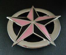 Pink And Black 5 Point Rock Nautical Star Belt Buckles Boucle de Ceinture