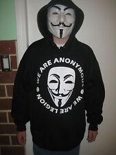 WE ARE LEGION Anonymous Hoodie Hooded Sweatshirt shirt 99% OCCUPY 4CHAN 9GAG
