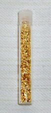 Vial 24ct Yellow Gold Flakes Weight 15 US grain (0,97gr) NO liquid- 100% Gold