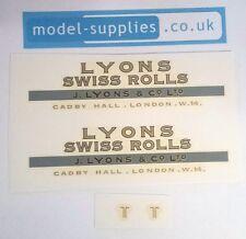 Dinky 514 Guy Lyons Swiss Roll Reproduction Waterslide Transfers Set