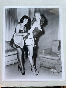 8 x 10 Photograph of Bettie Page Pinup Girl -- Repro from Original Negative  EE