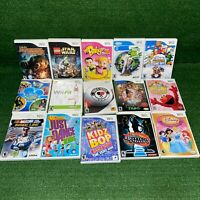 Lot Of 15 Nintendo Wii Disney, Sports, Racing, Dancing Star Wars Video Games
