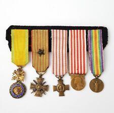 Lot de 5 décorations militaires France en miniatures (AV556)