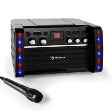 Karaoke System Set Anlage CD Player IPAD Halterung LCD Lichteffekt Echo Effekt