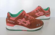Ladies ASICS GEL-LYTE III Orange suede Trainers Size 4