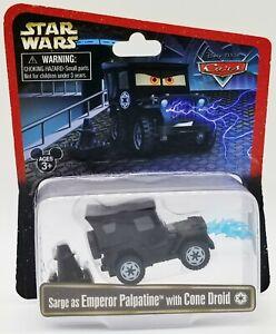Disney Pixar Cars Star Wars Sarge as Emperor Palpatine & Cone Droid Figure 38632