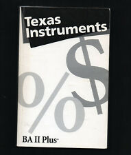 TEXAS INSTRUMENTS BA II Plus Calculator Instruction Book Manual Guide Guidebook