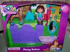 "Dora the Explorer PONY SALON  Playset with Mini 4"" Dora & Mini Pony New"