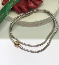 Pandora Charm Two Tone Necklace Sterling & 14k Gold 590703HG 50cmRetired Genuine
