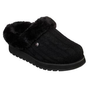 Ladies Skechers BOBS Keepsakes - Ice Angel Winter Warm Plush Foam Slip On Faux