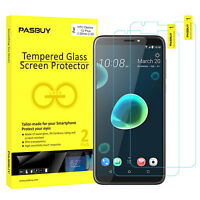 Screen Protector [2Pack PASBUY Retailbox] Tempered Glass for HTC Desire 12 Plus