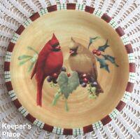 Lenox WINTER GREETINGS EVERYDAY Cardinal Dessert Salad Plate Earthenware Mint