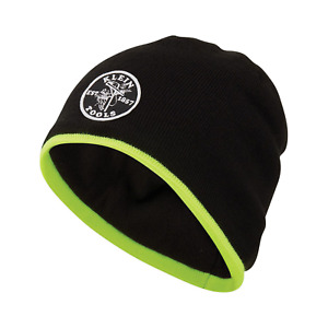 Klein Tools 60391 Knit Beanie with High-Vis Yellow Trim