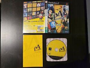 Persona 4 PS2 NTSC J JAP Complete Shin Megami Tensei FREE SHIP Playstation 2