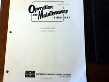 AiResearch Outflow/Safety Valve 103570-14 Operation & Service Manual