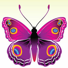 24 X PINK PURPLE BUTTERFLY EDIBLE CUPCAKE TOPPERS CAKE RICE PAPER B72