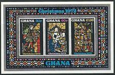 GHANA - Noël VITRAUX BLOC 48 NEUF 1972 mi.n ° 489-491