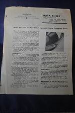 1946 Shure Brothers 93A, 93AN, 96A Glider Light Crystal Pickup Phono Data Sheet