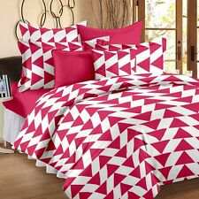 Story @ Home 120 TC 100% Cotton Pink 1 Double Bedsheet With 2 Pillow Cover