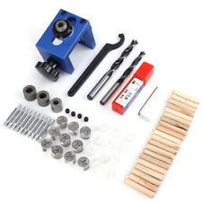 Wood Dowel Hole Drilling Guide Jig Drill Bit Kit Carpentry Locatoe Tool