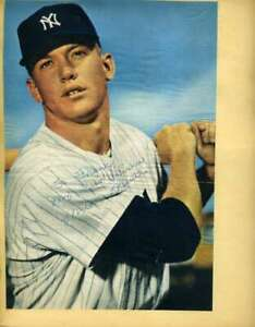 Mickey Mantle JSA Signed 1950`S Photo On Album Page Autograph