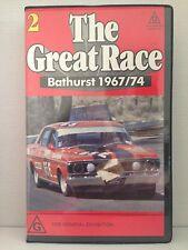 THE GREAT RACE ~ AUSTRALIA'S MOUNT PANORAMA BATHURST 1967/74 ~ VHS VIDEO