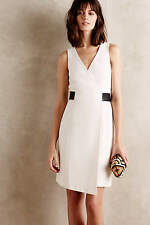 NWT Anthropologie 4.collective Sila Wrap Dress - Leather Belt - 4 Small S $295