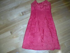 Vintage Charna Lea Cut A Hem bright red acetate full slip Size 38