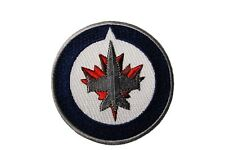 "WINNIPEG JETS  NHL Logo Iron-On PATCH CREST BADGE 3"" Inch In Diameter..New"