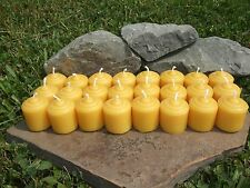 24 Handmade 100% All Natural  Beeswax Mini Votive Candles, Cotton Wicks