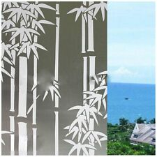 White Frosted Window Film Frost Etched Glass Sticky Back 45cm x 2m Bamboo r E3R9