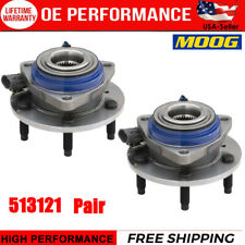 MOOG Front Wheel Hub & Bearing Assembly Pair Set For GMC Chevy Pontiac W/ ABS