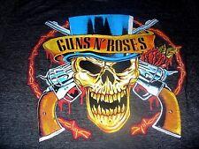 Guns N Roses Men's KO Rock N Roll Bravado Vintage Skull Gray T-Shirt Size Large