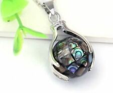 Abalone Shell Silver Plated Natural Fashion Necklaces & Pendants