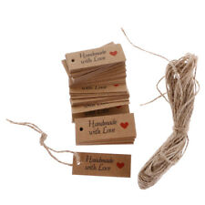 100 Vintage Kraft Paper HANDMADE WITH LOVE Gift Tags Wedding Favor Tags