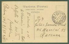 GUERRA DI SPAGNA. Cartolina del 1938 dall'UFFICIO POSTALE SPECIALE 10 P.M.