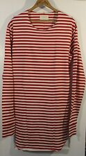 Fear Of God Third Collection Red Striped Long Sleeve Top Elongated Large
