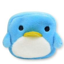 Square Light Blue Penguin Plush Small Zipper Coin Purse New With Tag