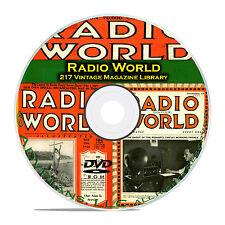 Radio World, 217 Classic Old Time Radio OTR Magazine Collection PDF on DVD B85