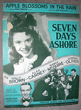 1944 APPLE BLOSSOMS IN THE RAIN Sheet Music MARCY McGUIRE by Pollack, Greene