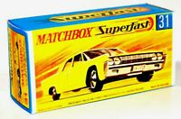 Matchbox Lesney Superfast No 31 LINCOLN CONTINENTAL  empty Repro G style Box